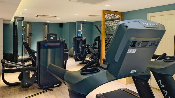 Two high-end gyms were installed in the hotel, for guests and for members