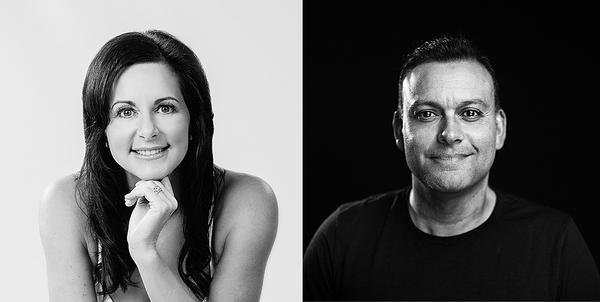 Dione Forbes-Ryrie, MD of Les Mills NZ's chain of 12 gyms and Guy Needham, head of marketing