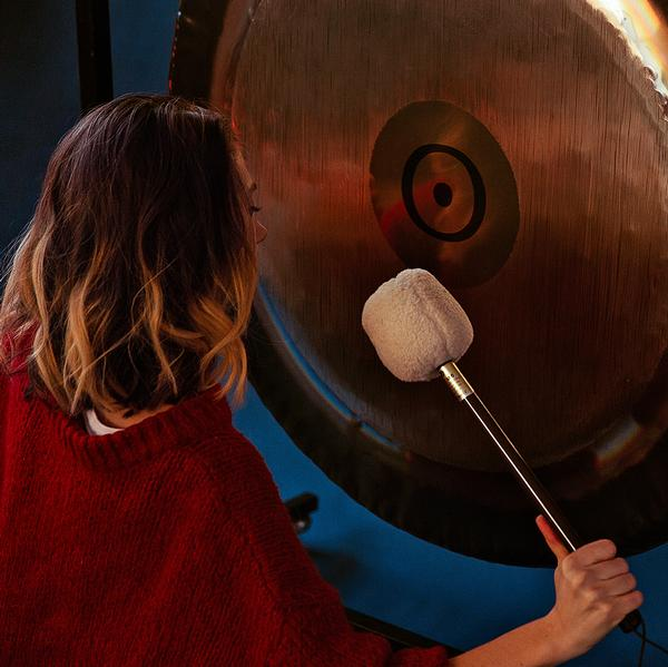 A Tibetan gong is used in the sound healing classes