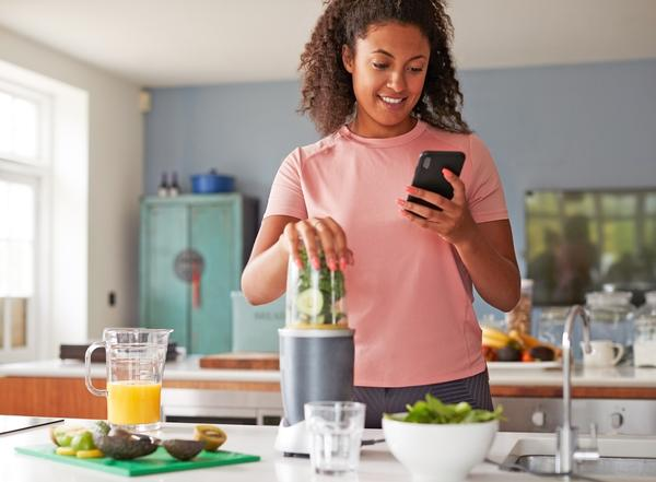The Tone & Sculpt app includes nutrition information and healthy recipes