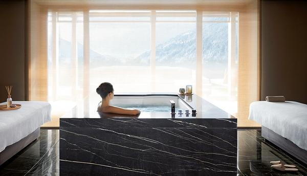 The Royal Pool and Spa Suite has a private bio-sauna, steam sauna and jacuzzi