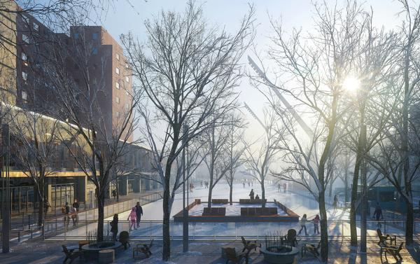 Montreal's Esplanade Tranquille will feature 36 geothermal wells