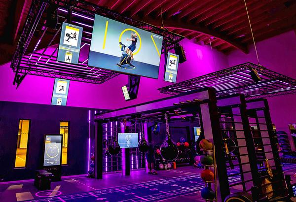 Tesqua has dedicated a third of its gym floor to a group exercise 'box'