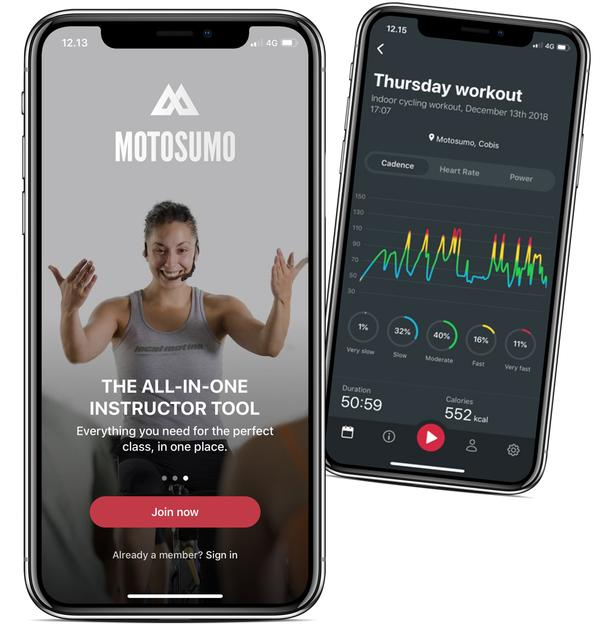 The Motosumo app works with all equipment