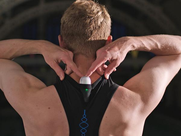 The NOVA is the first ever triathlon wearable worn on the upper spine