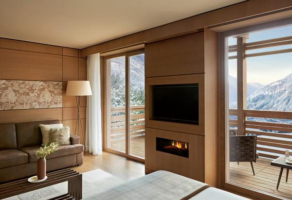 The suites are sleek, modern and calming, with natural colours and materials