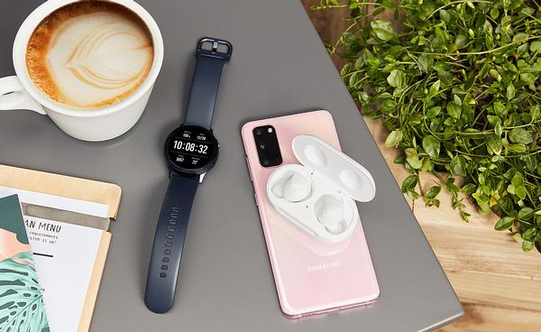 Samsung's three-way workout combination of watch, phone and ear buds