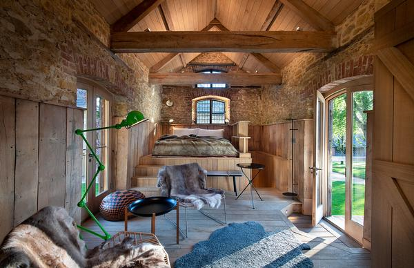 The Georgian granary has been converted into a standalone guest room