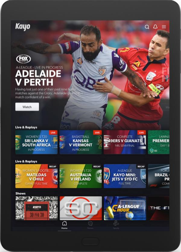 Kayo is a new way for Aussies to experience sport