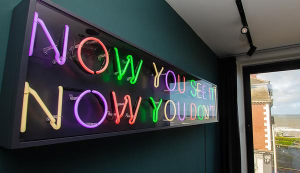 Tim Etchell's neon sculpture