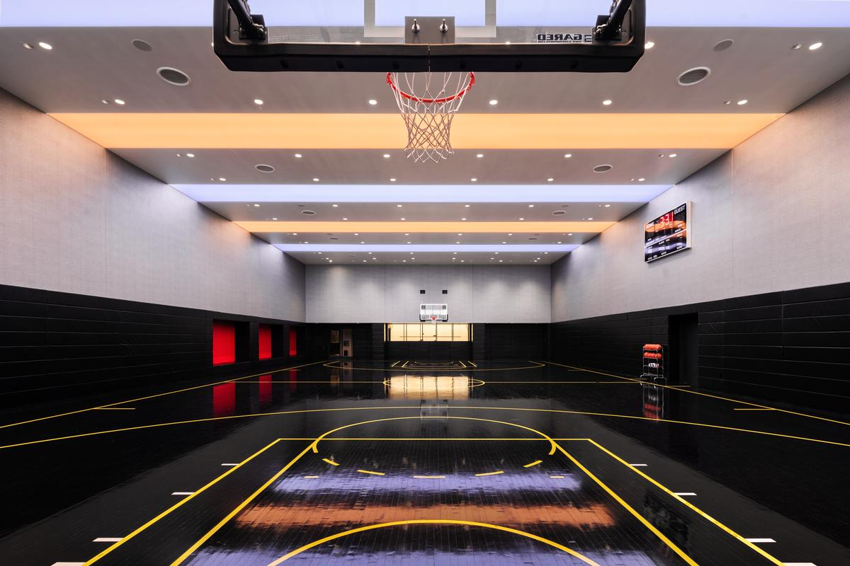 Residents will have access to a full-sized basketball court