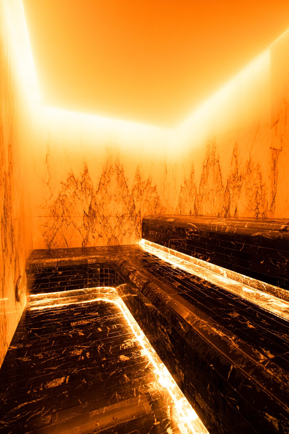 There is also a steam room for guests to relax in / Jason Ennis – Press Up Entertainment Group