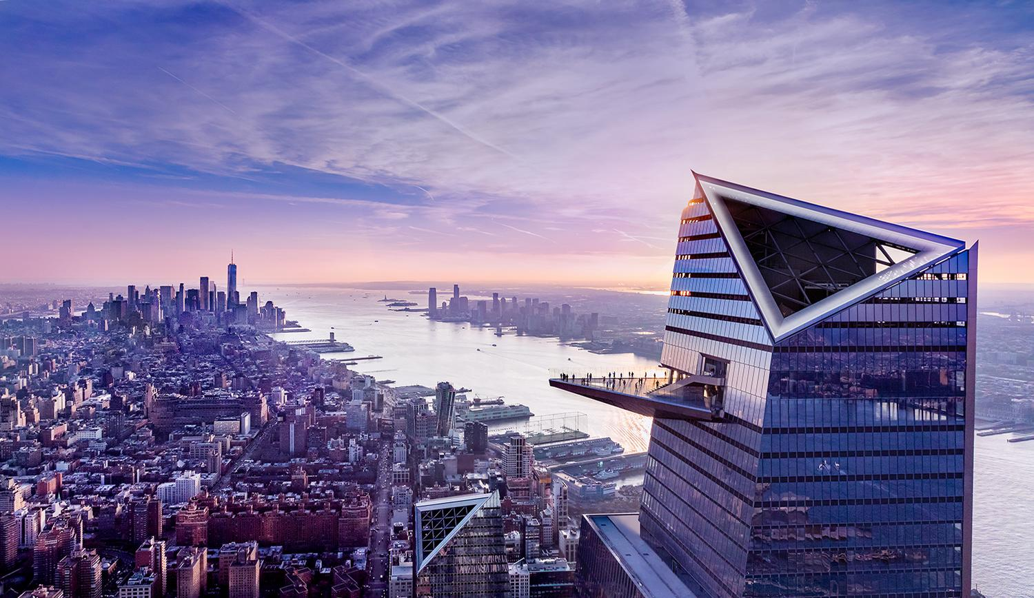 Edge extends 80ft (24m) out from the 100th floor of 30 Hudson Yards at a height of 1,131ft (345m) / Courtesy of Related-Oxford