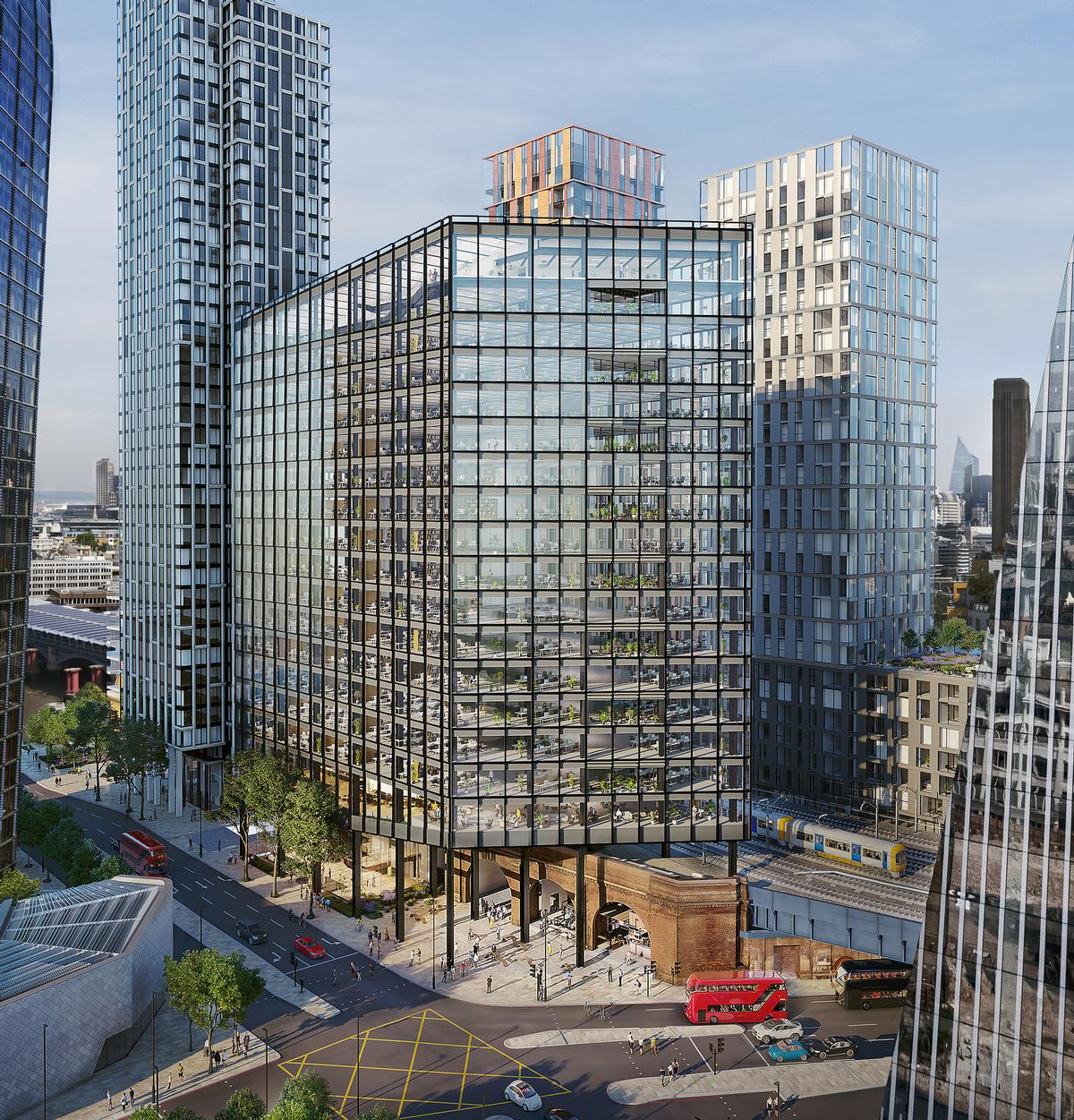 The new buidlings will house nearly 600 new apartments and a luxury hotel