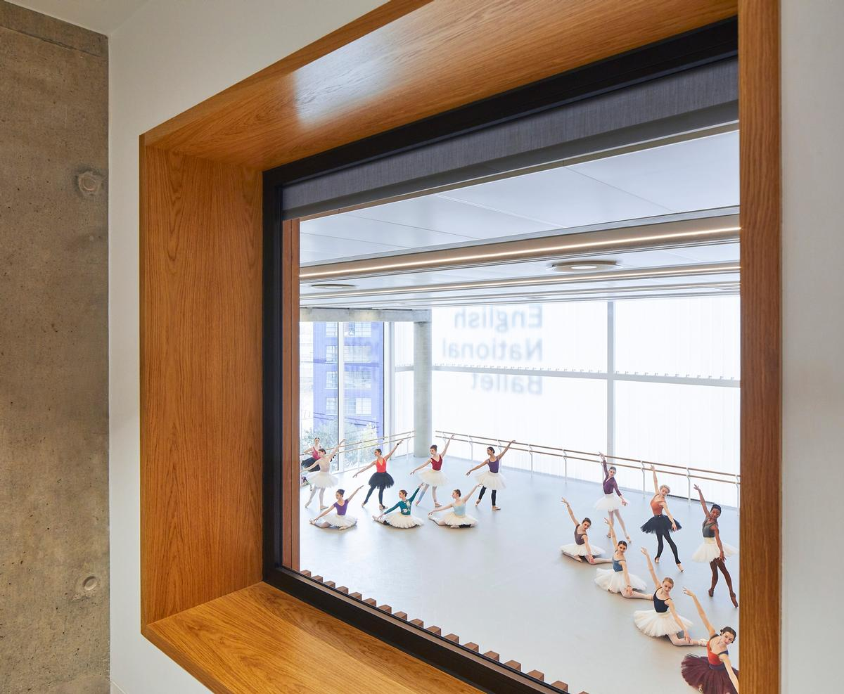 The English National Ballet School is housed on the top two floors / Hufton + Crow