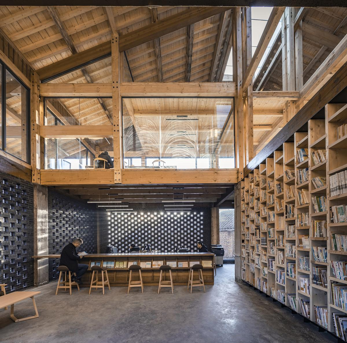 The wooden frames could be prefabricated off-site / Jin Weiqi