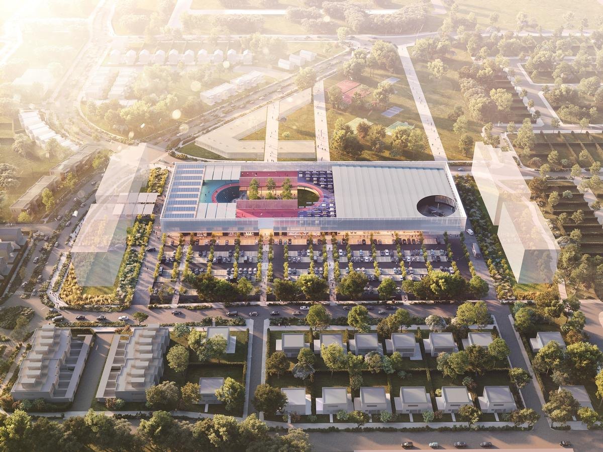The 9,000sq m (97,000sq ft) facility is intended to be a neighbourhood asset / OMA
