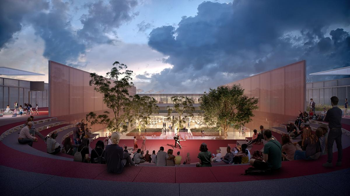 At the heart of the facility will be a courtyard with spaces for community events and activities / OMA