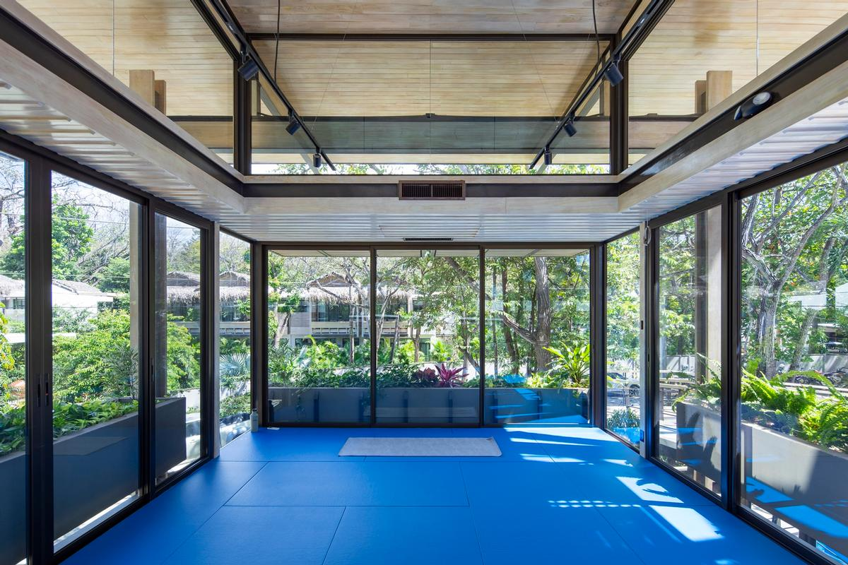 The studios are used for yoga, jujitsu, boxing and kickboxing classes