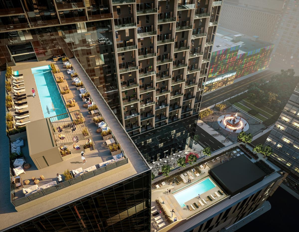 Residents will have access to rooftop pools / Humaniti