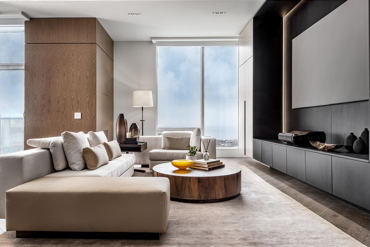 The suite's interiors are described as 'modern, minimal and refined'