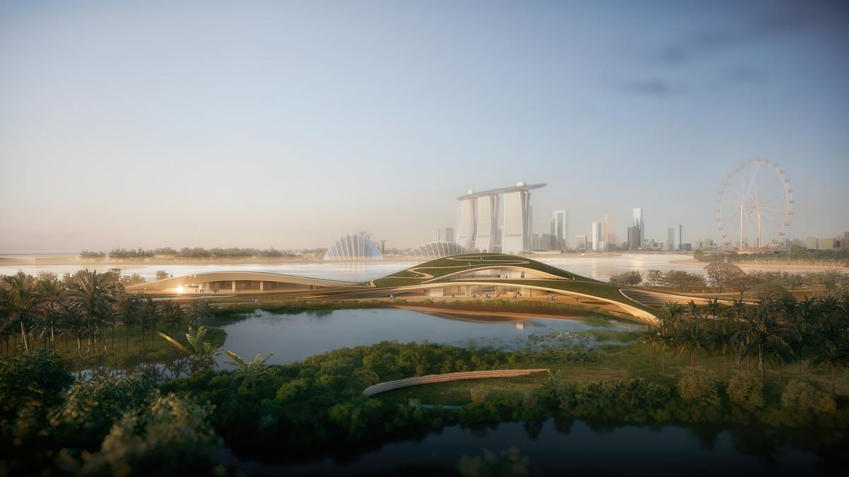 The memorial will be located at the Gardens by the Bay parkland destination / Kengo Kuma & Associates + K2LD Architects