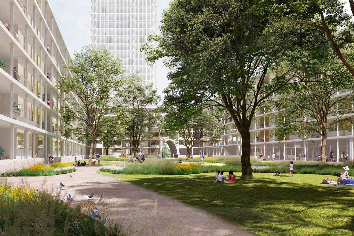 A new urban structure composed of towers and interconnecting courtyard buildings will be the main new element / David Chipperfield Architects