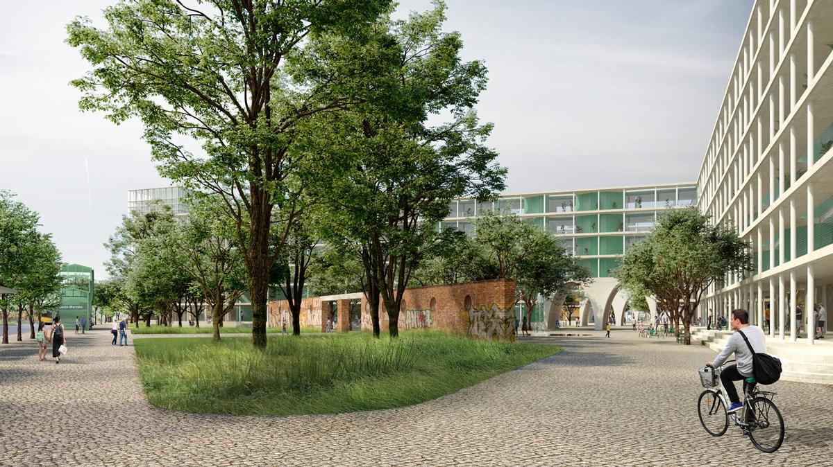 There will be green areas, recreational facilities and pathways for pedestrians and cyclists / David Chipperfield Architects