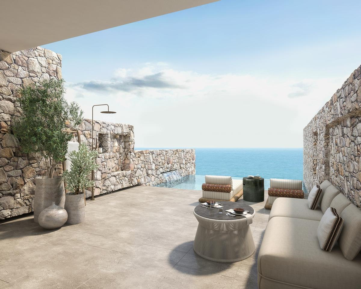 All buildings were oriented to provide views of the Aegean Sea
