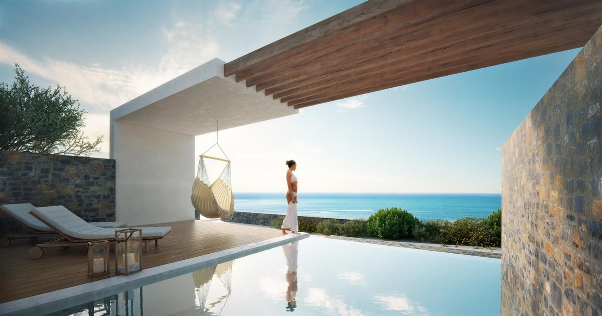 There are 74 private infinity pools at the resort's suites and villas