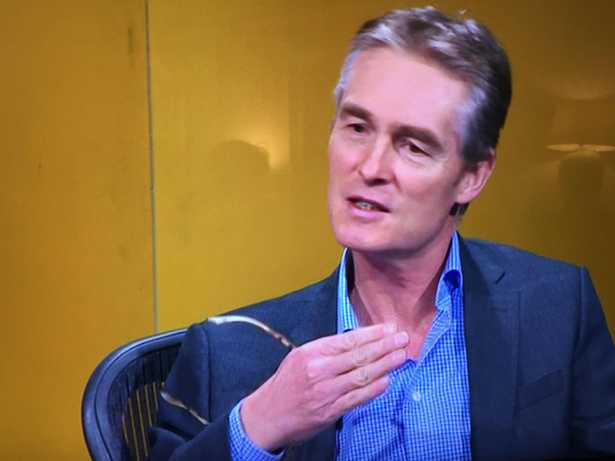 Humphrey Cobbold, CEO of Pure Gym, discusses the coronavirus shutdown on BBC Question Time, 26 March 2020 / Liz Terry/BBC Question Time