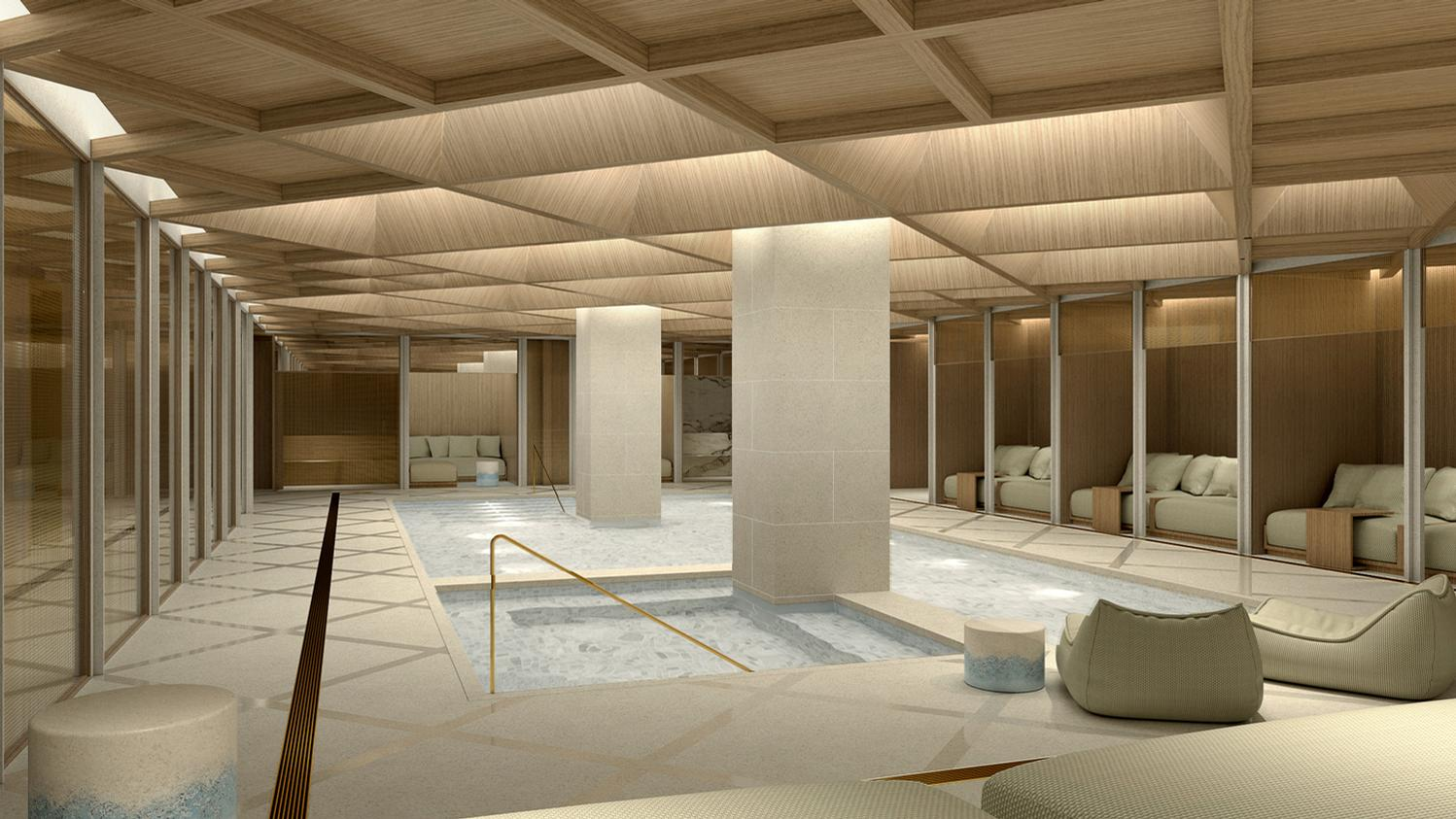 The Londoner will include feature a subterranean spa