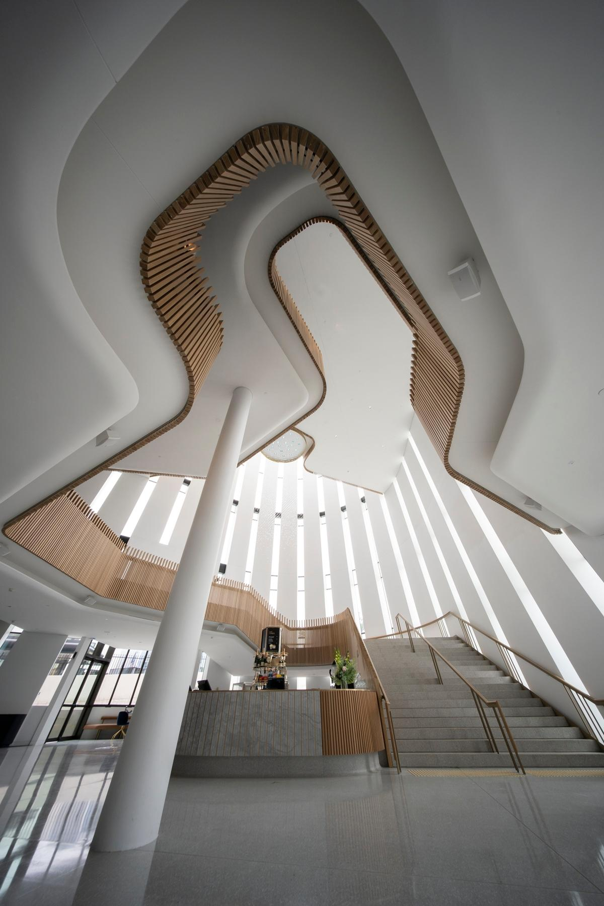 Cox Architecture describes the interior as having a 'symphonic quality' / John Gollings