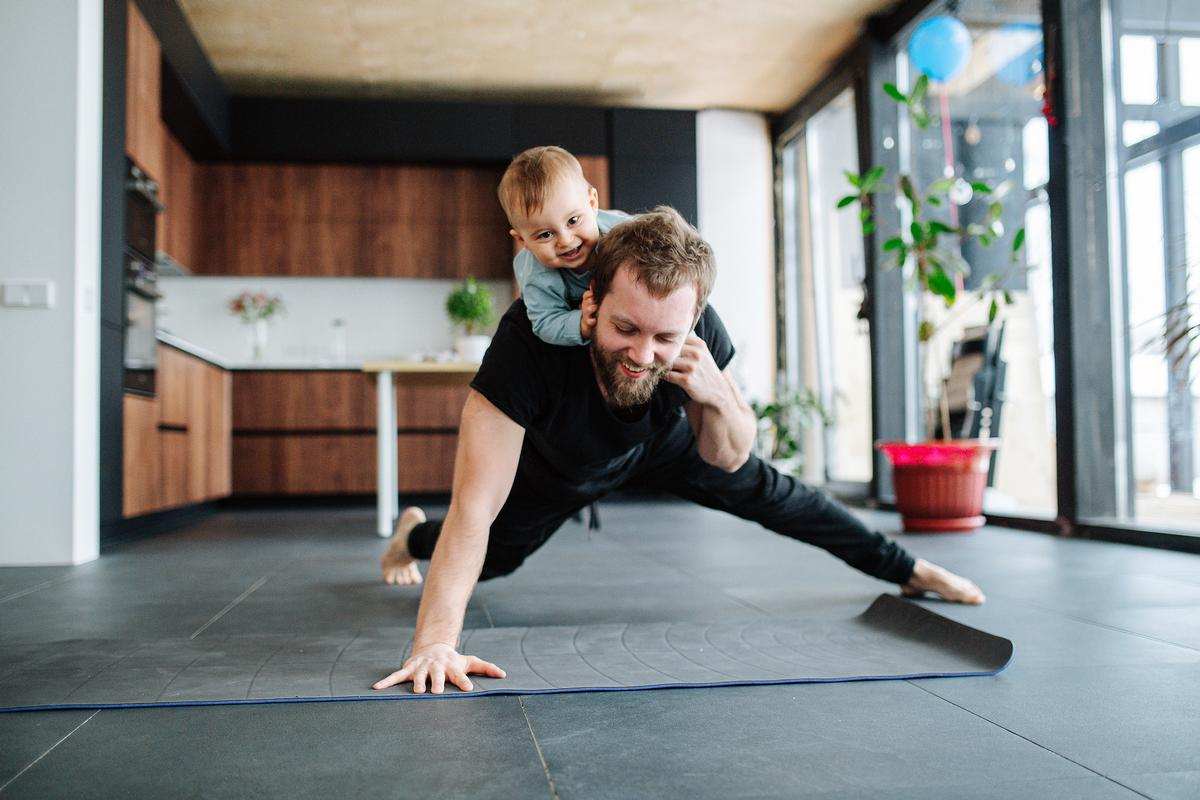 More than a third of those doing home-based fitness sessions do it with the children in their household / Shutterstock