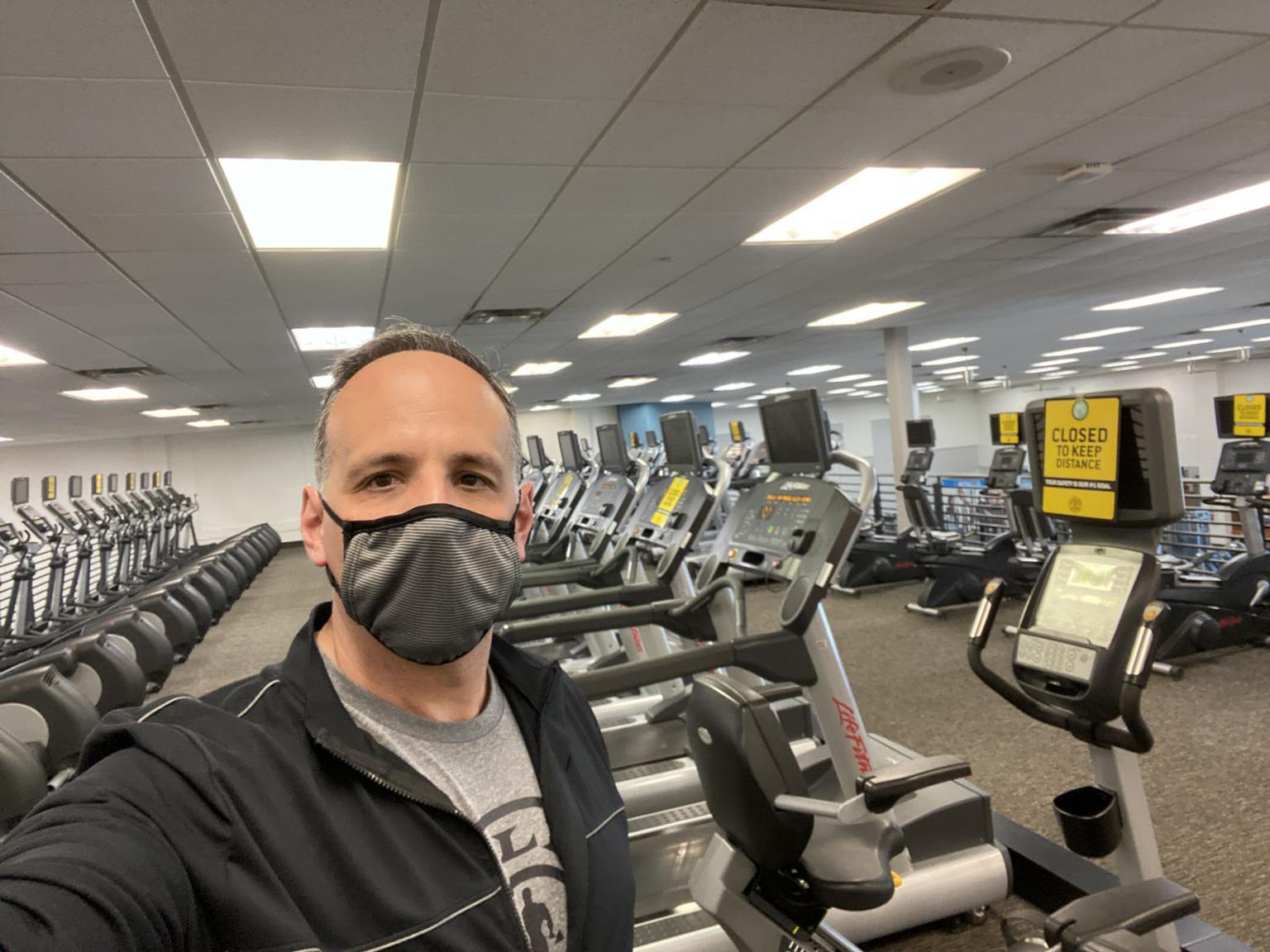 Gold's Gym is one of the chains to instigate a major reopening push (picture features Adam Zeitsiff, CEO, at one of the reopened clubs) / LinkedIn/Adam Zeitsiff