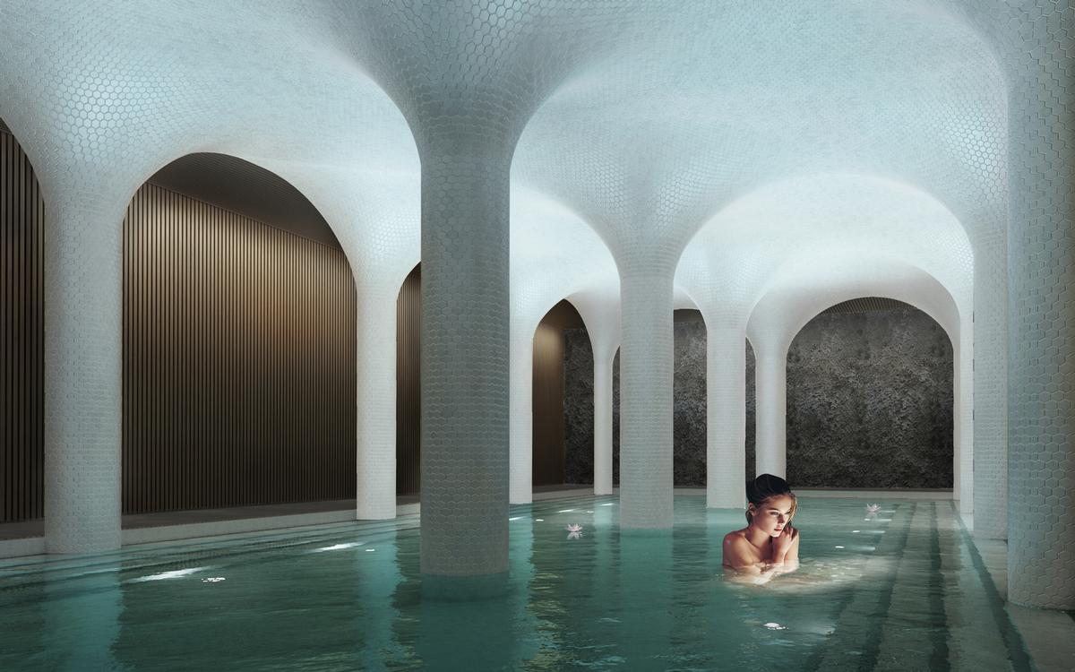 Johannes Torpes has revealed the spa will include a contemporary Turkish bath – named The Cave
