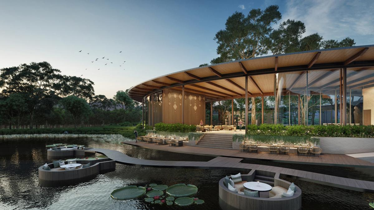 The destination will be anchored by a wellness resort