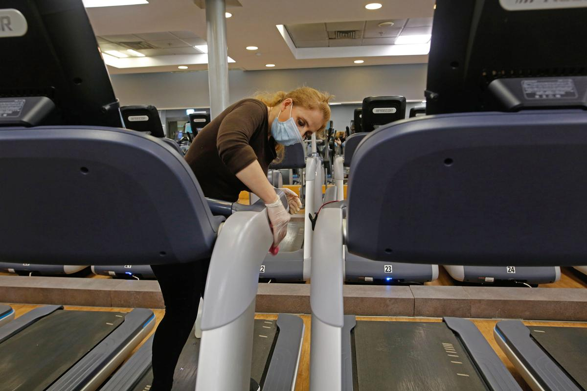 Having adequate hygiene and cleaning regimes implemented at centres was among the top concerns for gym members surveyed by Places Leisure / Shutterstock.com/Gil Cohen Magen