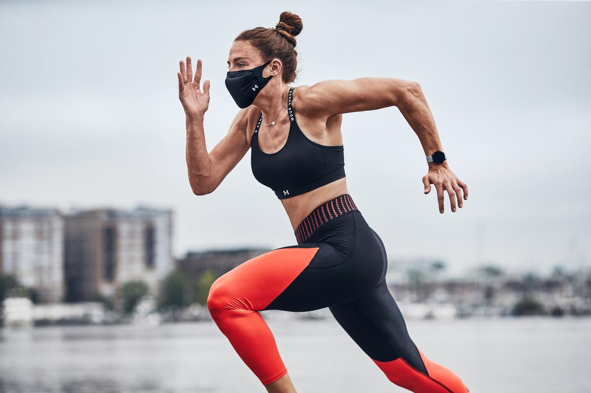 The Under Armour Sportsmask features a unique, three-layer model engineered to offer protection during strenuous fitness training and for athletes during sports / Under Armour