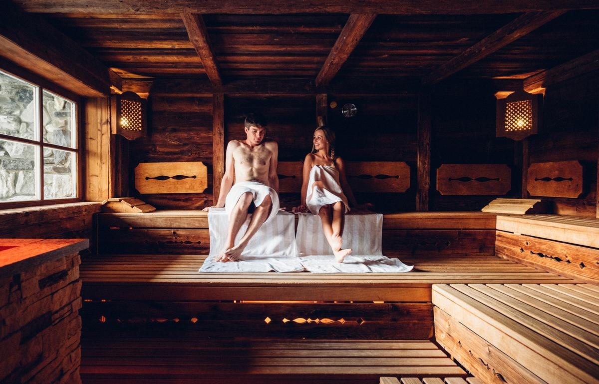 The spa features 10 sauna and steam rooms – including the Snow Sauna ice lounge that's designed to relieve sore muscles and tension / James Bedford