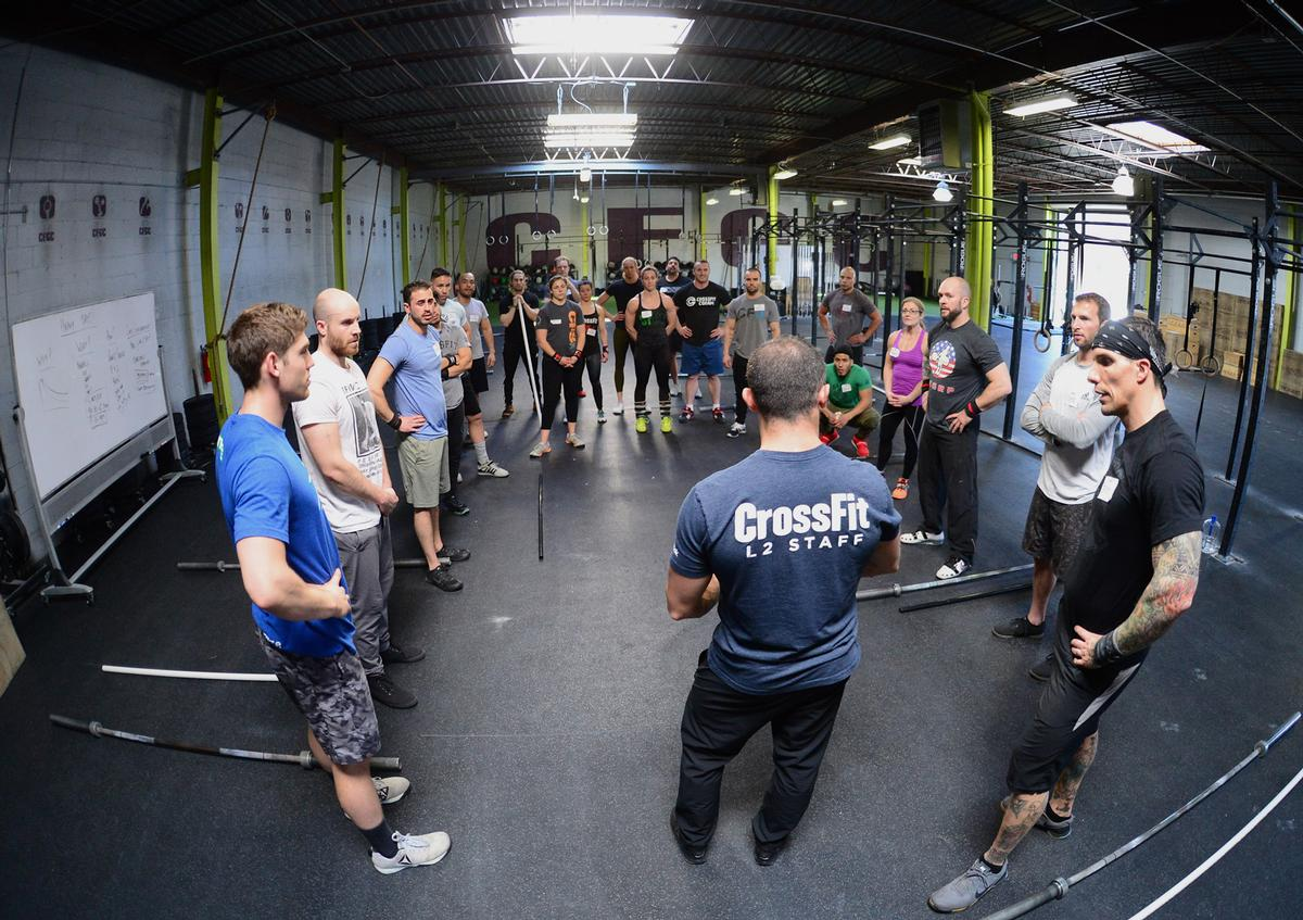 CrossFit was launched in 2000 and has since grown to encompass 14,000 affiliate gyms worldwide. / Crossfit