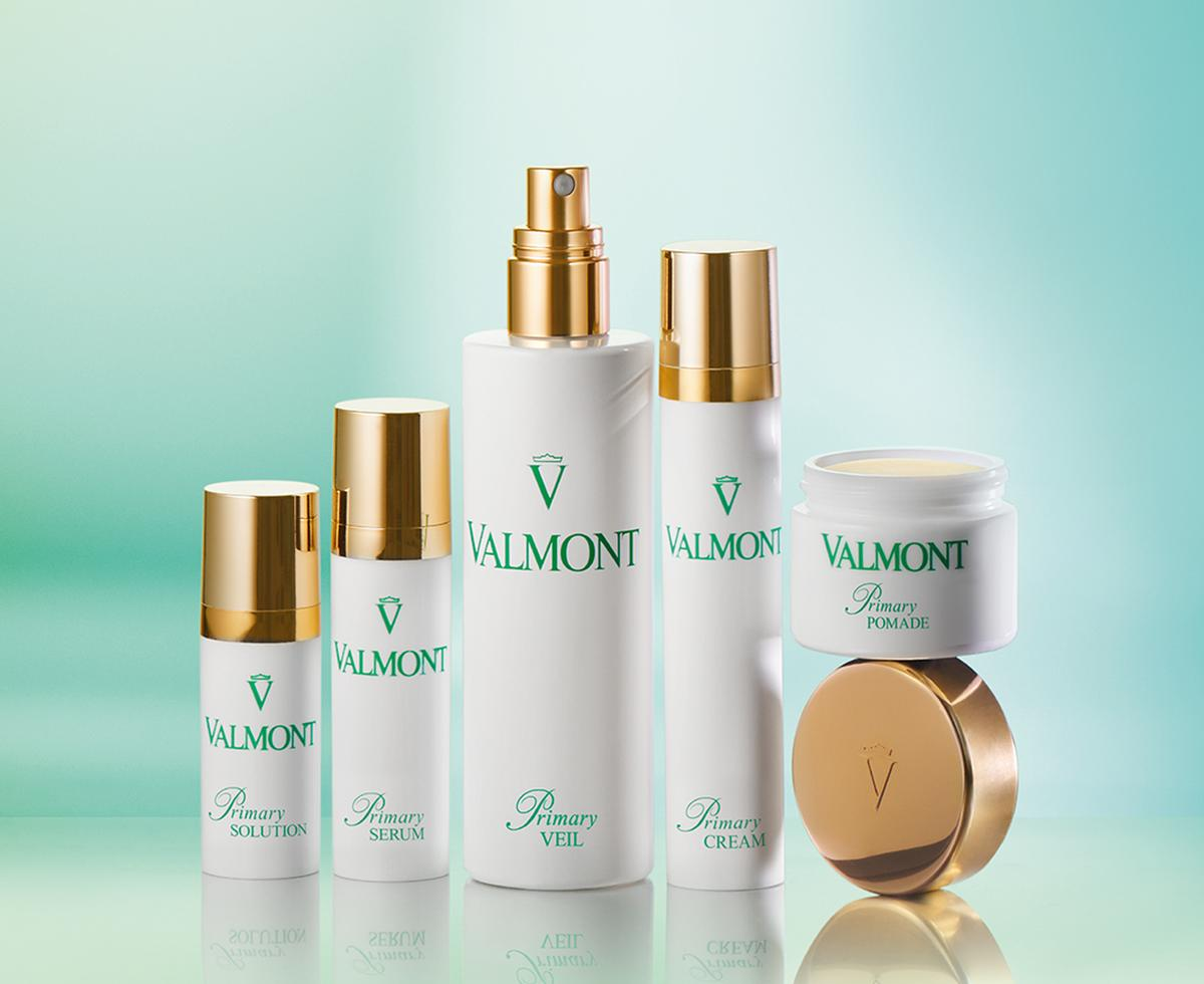 The range features five products, all of which include three key ingredients that work both individually and in synergy with each other to enrich and strengthen the epidermis / Valmont Skincare