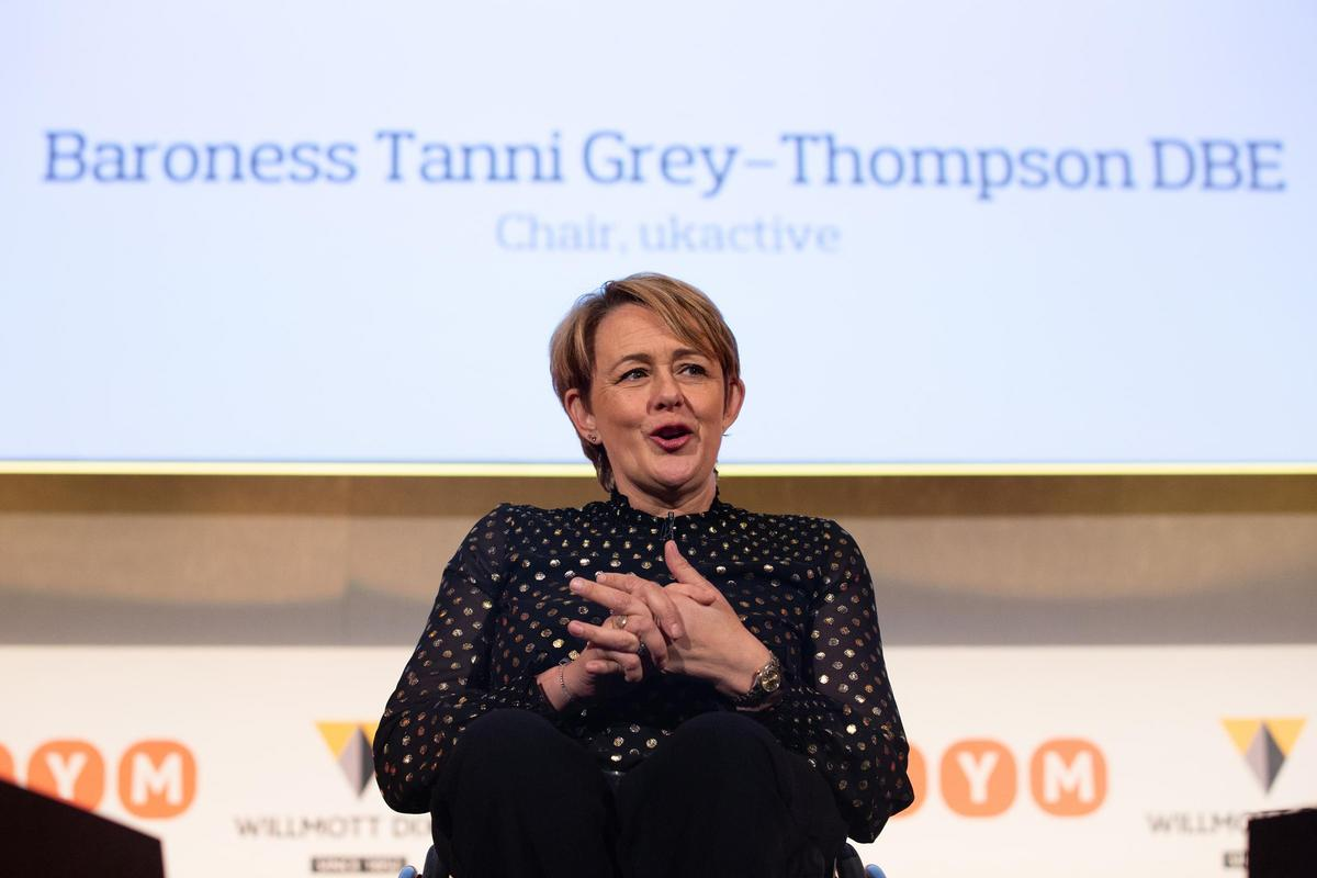 ukactive chair, Tanni Grey-Thompson opens the 2019 event. The event will be held online this year due to the pandemic / ukactive