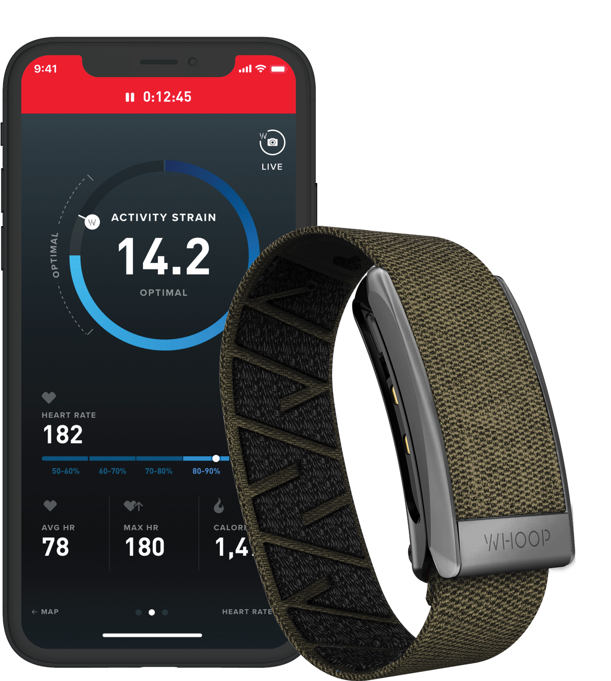 WHOOP is a fitness tracker that focuses on sleep and recovery, enabling people to know when they should train and when they should rest / WHOOP