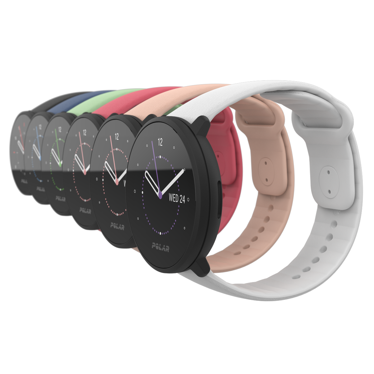 Real time training stats and insights into heart rate, calories burned and strain on the body are provided to users / Polar Global
