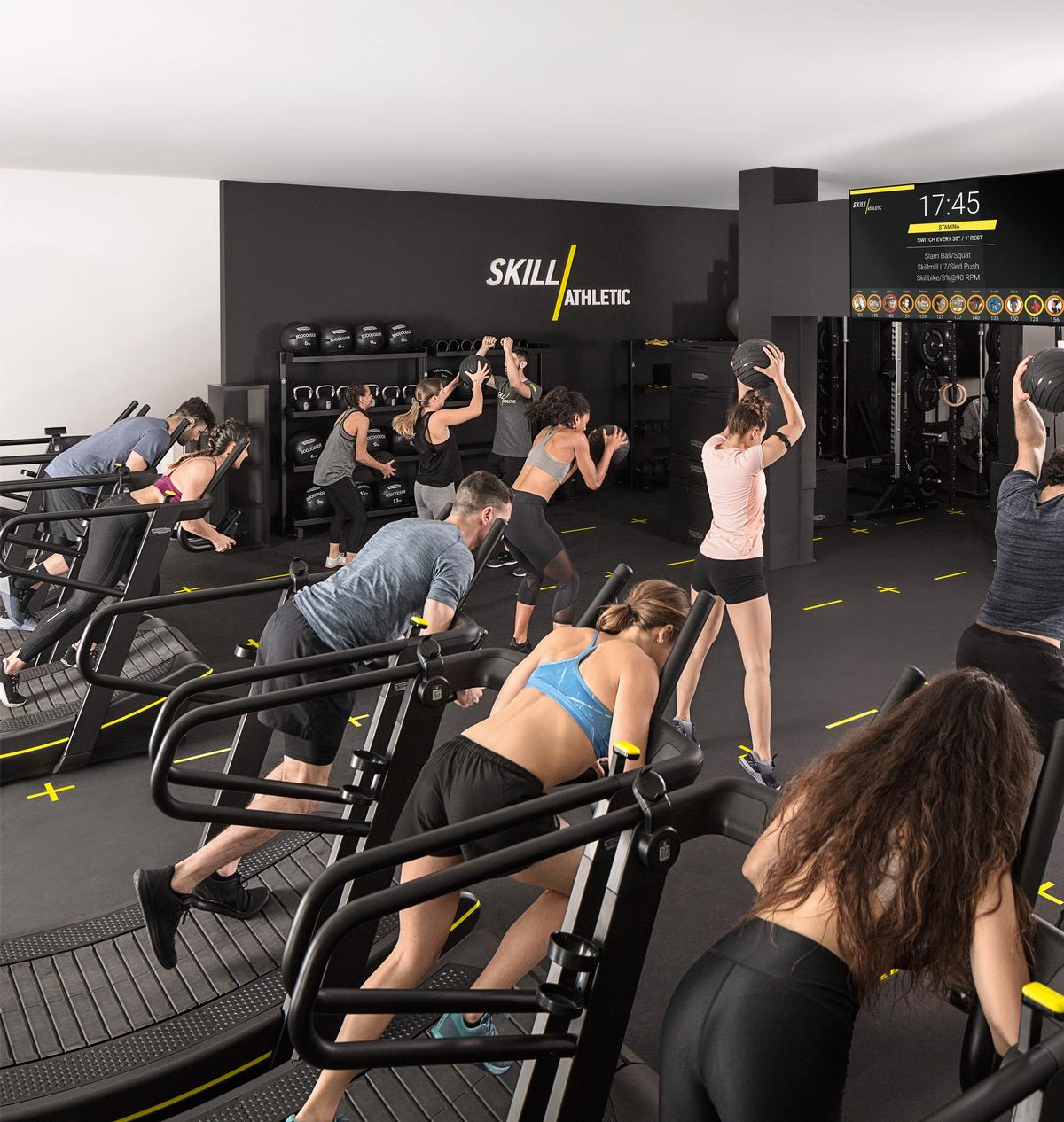 In-gym classes can be streamed to members to engage them in working out at home / Technogym
