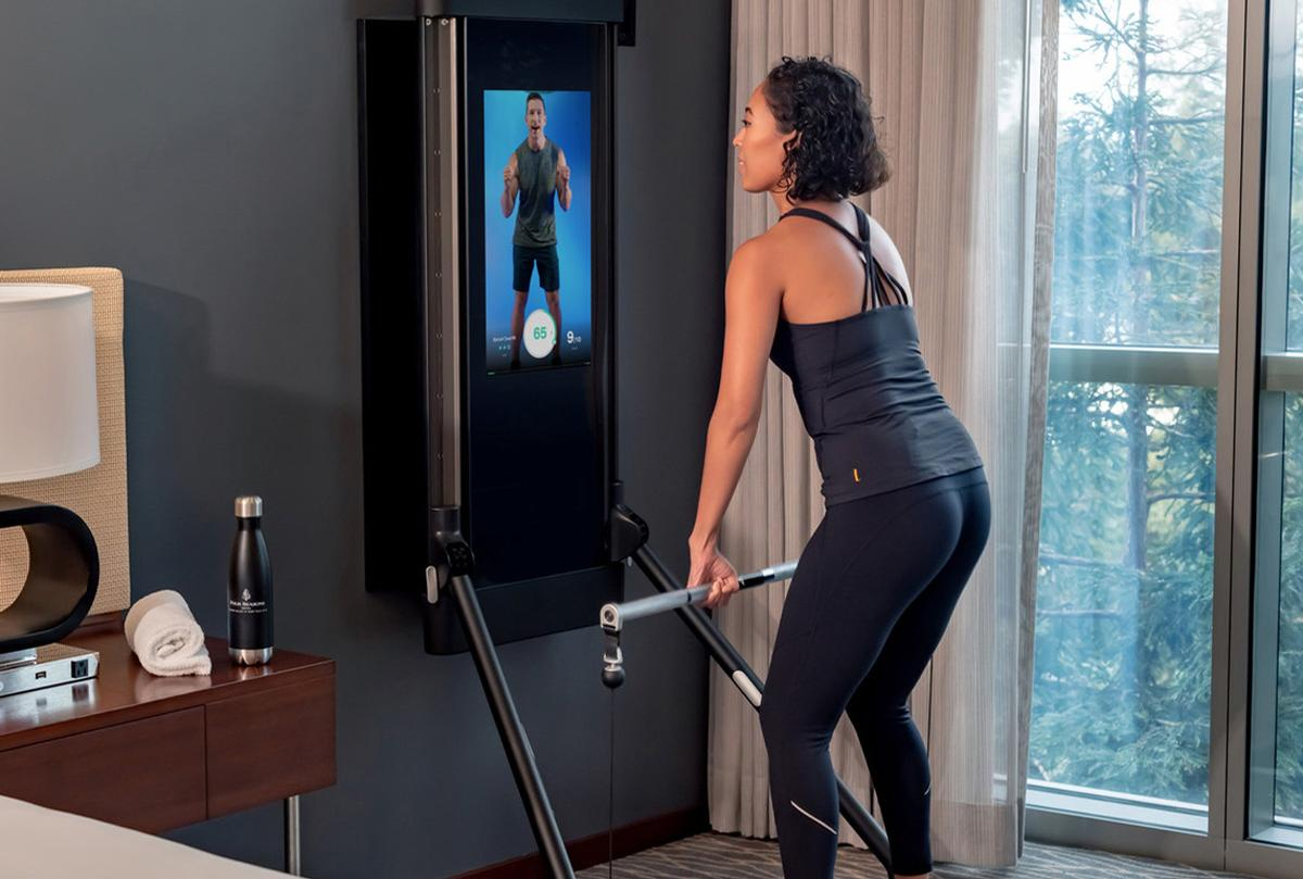Four Seasons Hotel Silicon Valley, US, is the world's first hotel to feature Tonal, an intelligent in-room gym and personal trainer