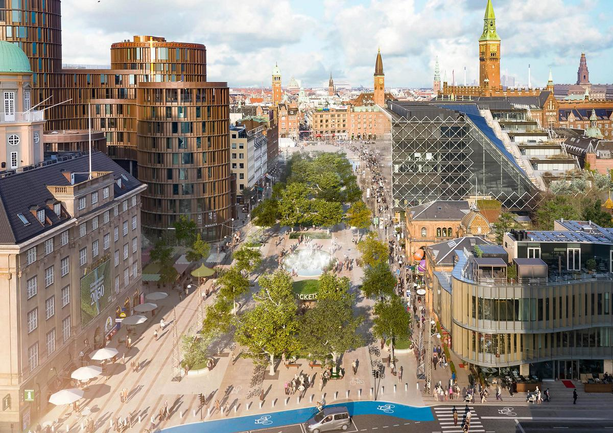 The road will be replaced by trees, water, wildlife and illuminations / Gehl Architects/Olafur Eliasson/Sebastian Behmann