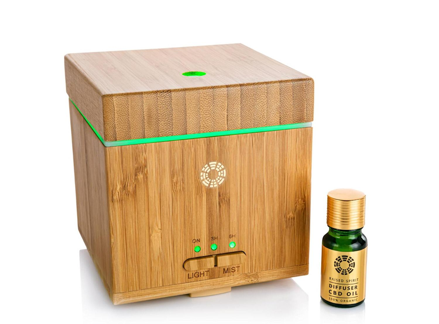 The diffuser has been developed to help provide a calming environment and improve overall physical and mental wellbeing / Raised Spirit