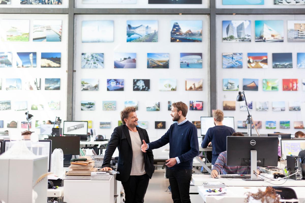 Jan Christian Vestre, CEO of Vestre with Bjarke Ingels at BIG / Vestre/Bjarke Ingles Group